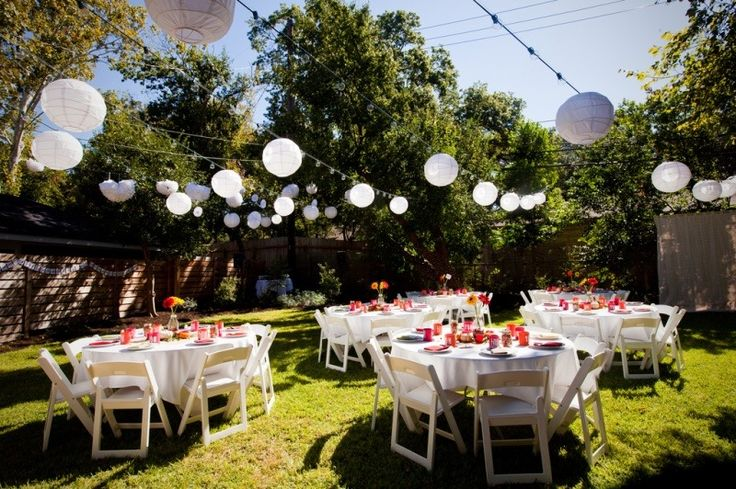 The key to outdoor parties a v party rentals blog for Garden pool party